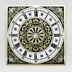 Fancy Roman Square Clock Dial 4"