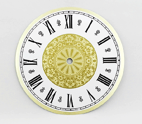 Fancy Roman Clock Dial 7"
