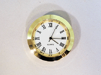 Mini White Roman Clock Insert | Bear Woods Supply