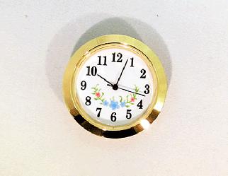 White-Blue Arabic Clock Insert | Bear Woods Supply
