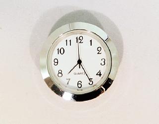 White Arabic Clock Insert Silver | Bear Woods Supply
