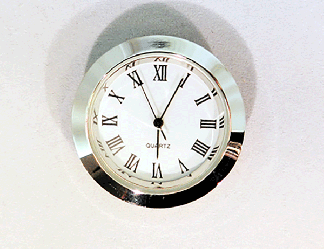 White Roman Clock Insert Silver | Bear Woods Supply