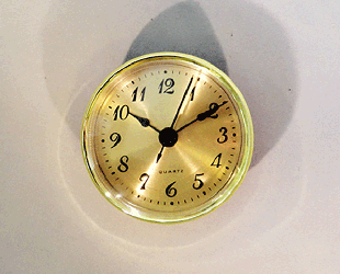 Gold Face Arabic Clock Insert | Bear Woods Supply