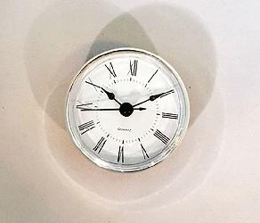 White Roman Quartz Clock Insert Silver | Bear Woods Supply