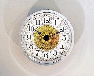 Fancy White Arabic Clock Insert Silver | Bear Woods Supply