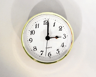 "White Arabic 3-1/2"" Clock Insert   Bear Woods Supply"