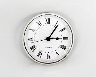 White Roman Clock Insert Silver   Bear Woods Supply
