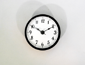 White Arabic Clock Insert Black | Bear Woods Supply