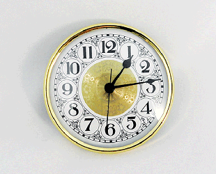 Brass Fancy White Arabic Clock Insert | Bear Woods Supply