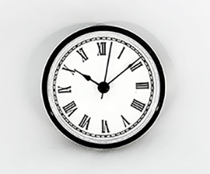 White Roman Clock Insert Black | Bear Woods Supply