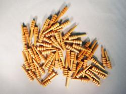 Wooden Cribbage Pegs with Clear Varnish   Bear Woods Supply