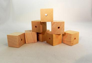 CU-050D Drilled Wood Cubes | Bear Woods Supply