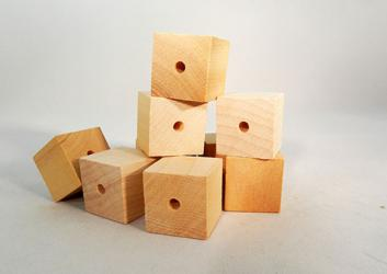 CU-100D Drilled Wood Cubes | Bear Woods Supply