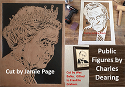 Scroll saw patterns and portraits of famous figures