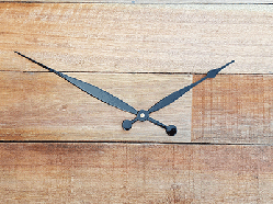 Tapered and rounded 8 inch clock hands