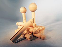 Doll Pins Wood | Bear Woods Supply