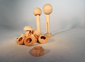 Doll Pin Stands Wood | Bear Woods Supply