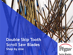 Double Skip Tooth Scroll Saw Blades by Pegas at Bear Woods