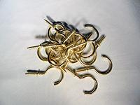 cuphook, brass cuphooks