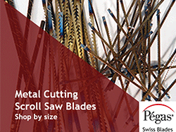 Metal Cutting Scroll Saw Blades by Pegas