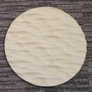 Round Sculpted Panel - Metal