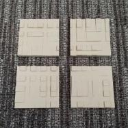 Square Sculpted Panel - Mosaic