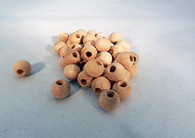 Wood Craft Bead 3/8 inch | Bear Woods Supply