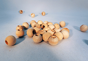 Wood Craft Bead 5/8 inch | Bear Woods Supply
