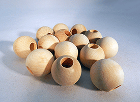 Wood Craft Bead 1 inch | Bear Woods Supply