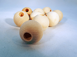 Wood Craft Bead 1-1/8 inch | Bear Woods Supply
