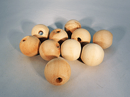 Wood Craft Bead 1-1/2 inch | Bear Woods Supply