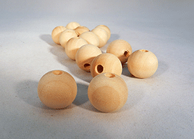 Wood Craft Bead 3/4 inch | Bear Woods Supply