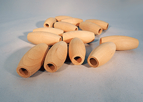 Wood Craft Bead 2 inch | Bear Woods Supply