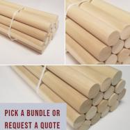 long hardwood dowels, 6 foot dowel rods