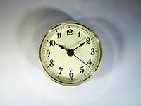 Gold Bezel Ivory Face Arabic Clock insert
