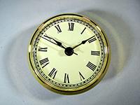 Gold Bezel ivory roman numerals clock fit up