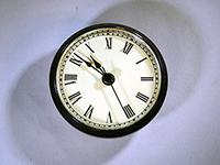 Black bezel ivory roman numerals clock fit up