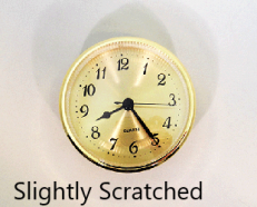 Scratched Clock Insert | Bear Woods Supply