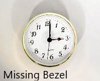 Missing Bezel - Clock Insert