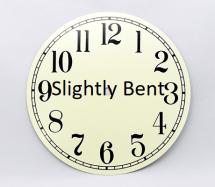Clock Dial Slightly Bent | Bear Woods Supply