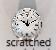 Scratched Clock Insert   Bear Woods Supply