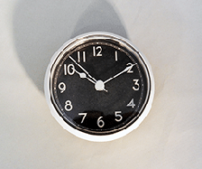 Clock Fit-ups antique black with silver bezel