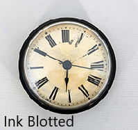 Ink Blotted Clock Insert   Bear Woods Supply