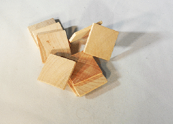 "1-1/4"" Wooden Tiles 