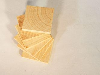 "1-1/2"" Wooden Tiles 