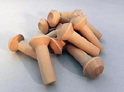 """Wooden Smokestack 1-1/4"""" x 2-3/4"""" (5/8"""" Dia. Tenon)"""
