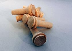 """Wooden Smokestack 1-1/8"""" x 2-5/8"""" (5/8"""" Dia. Tenon)"""