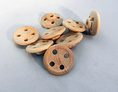 Wooden model steering wheel parts
