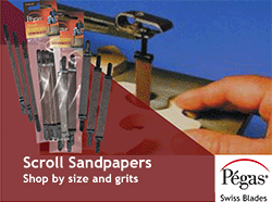 Pegas Scroll Sand Papers
