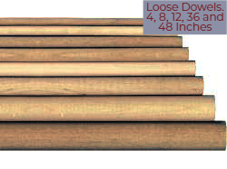 Wooden Dowel Rods as Singles